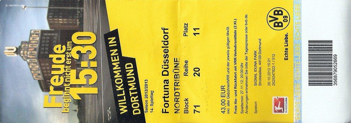 Ticket Borussia Dortmund
