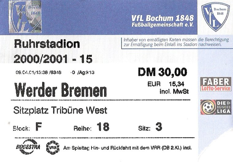 Ticket VfL Bochum