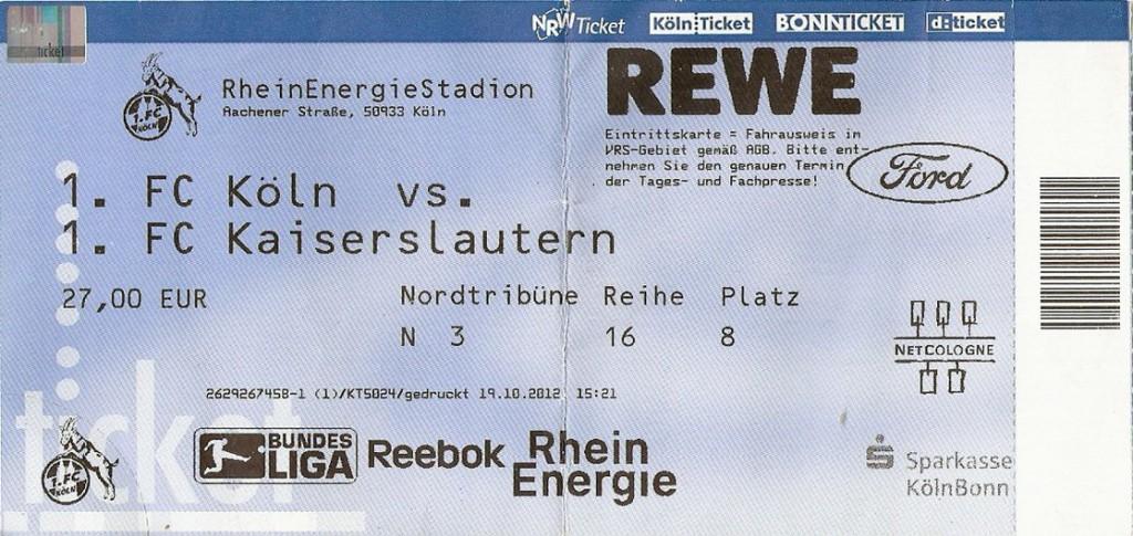 Ticket 1. FC Köln