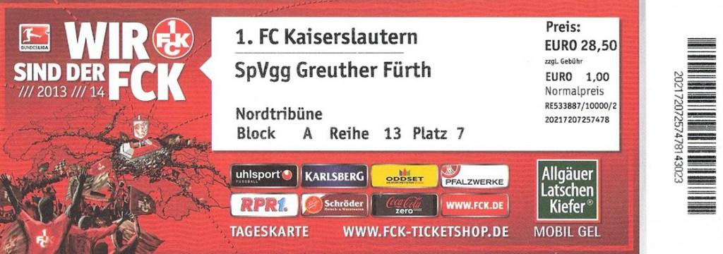 Ticket 1. FC Kaiserslautern