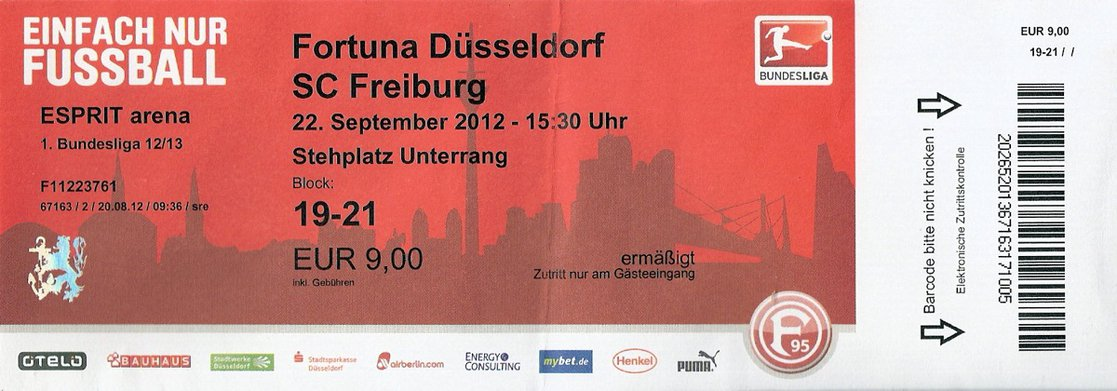 Ticket Fortuna Düsseldorf