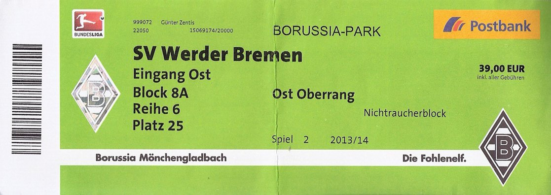 borussia ticket