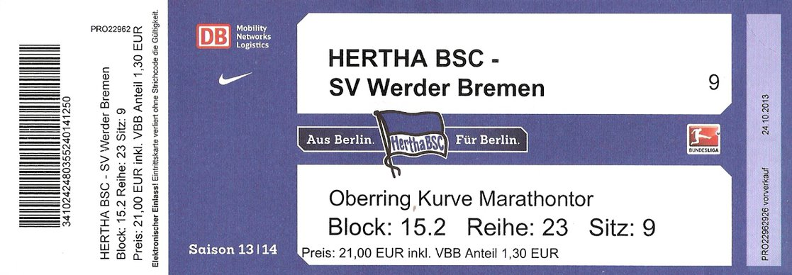Ticket Hertha BSC Berlin