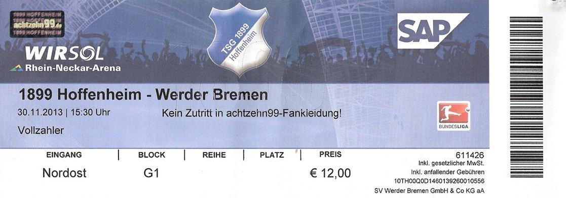Ticket 1899 Hoffenheim