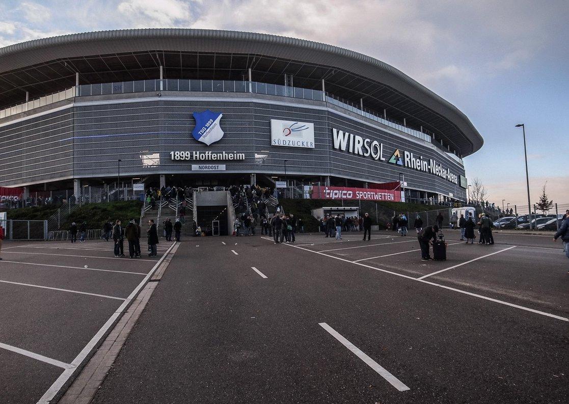 WIRSOL Rhein-Neckar-Arena (Außenansicht - Gästeeingang)