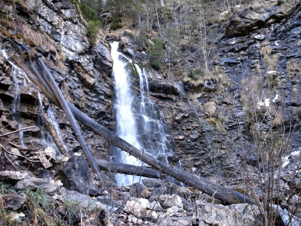 Wasserfall beim Aufstieg zur Seeaple