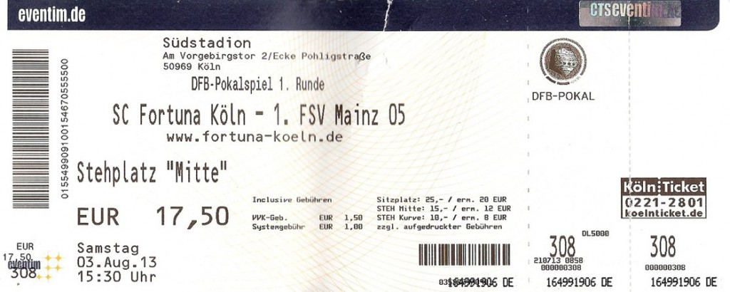 Ticket Fortuna Köln