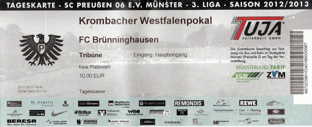 Ticket Preußen Münster