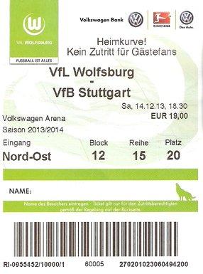 Ticket VFL Wolfsburg
