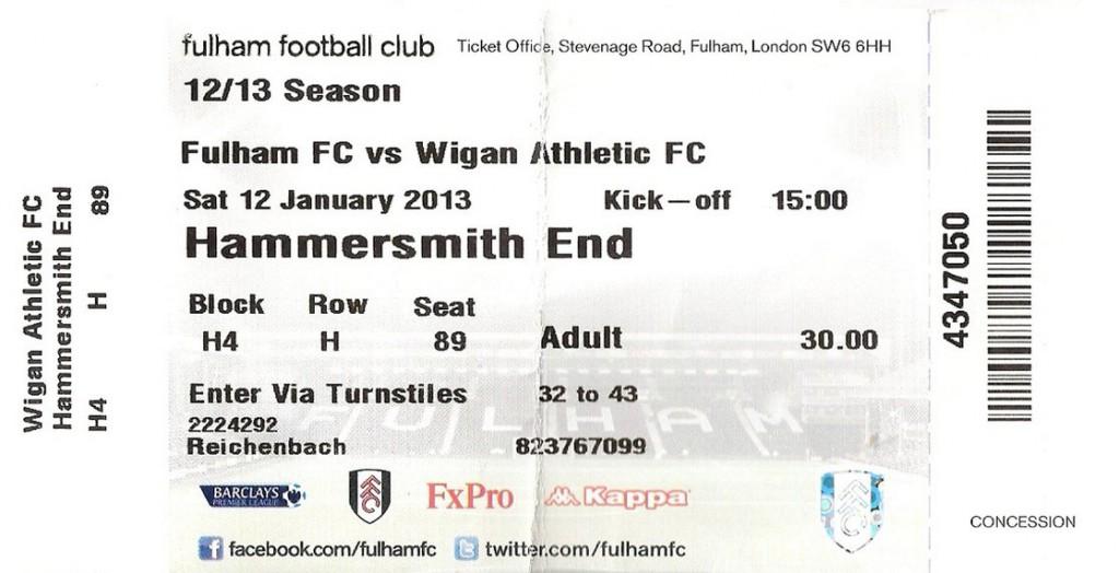 Ticket FC Fulham