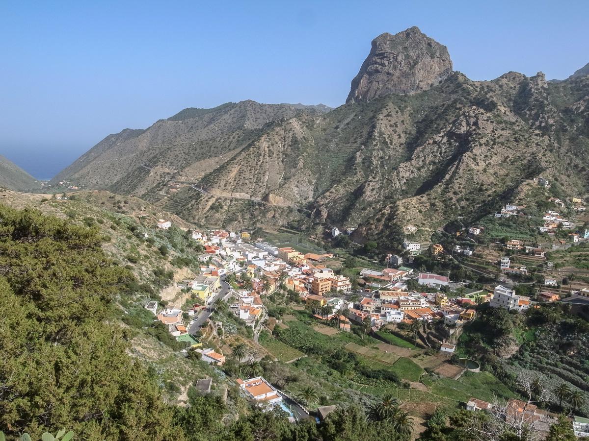 Vallehermoso mit Roque Cano
