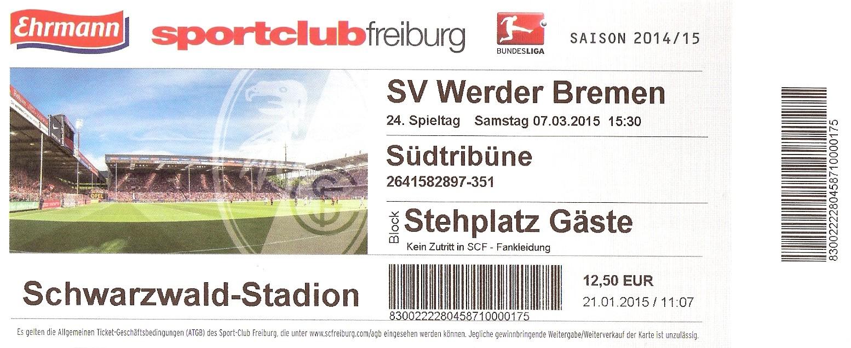 Ticket Schwarzwald-Stadion