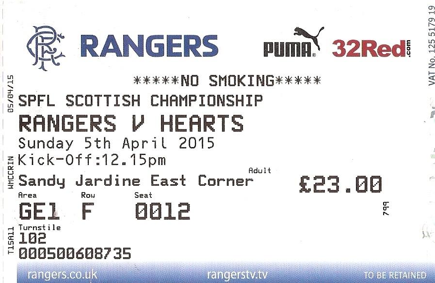 Ibrox Stadium Ticket