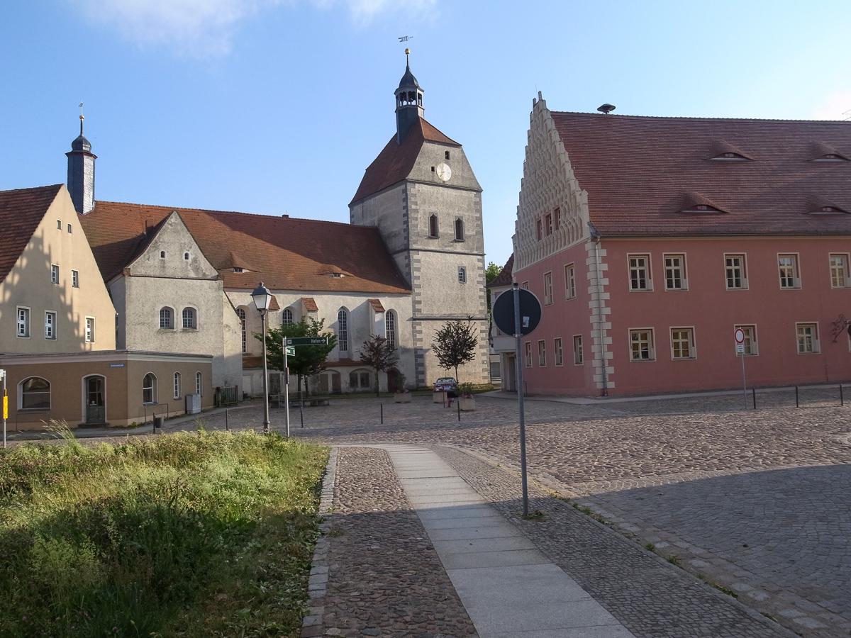 Kirchplatz von Mühlberg
