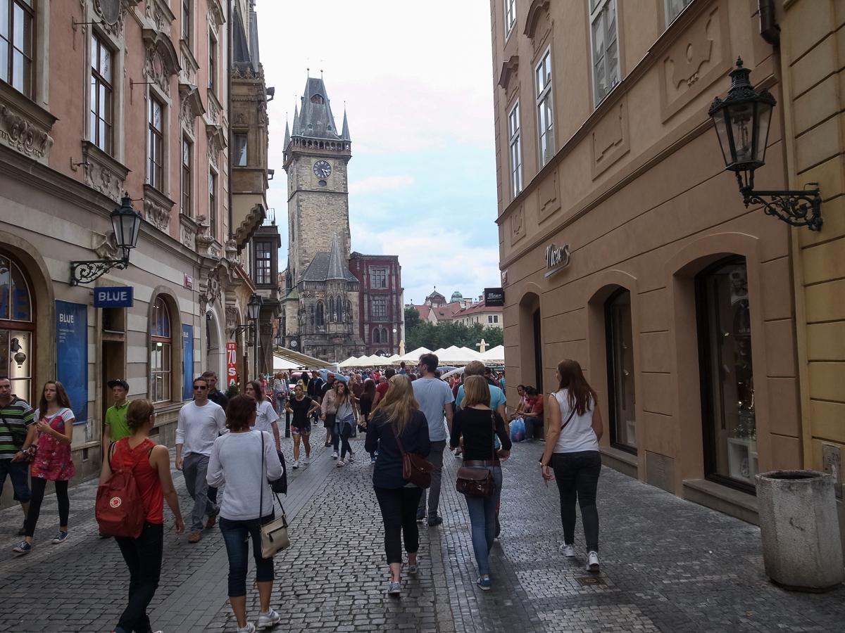 Blick auf das historische Rathaus