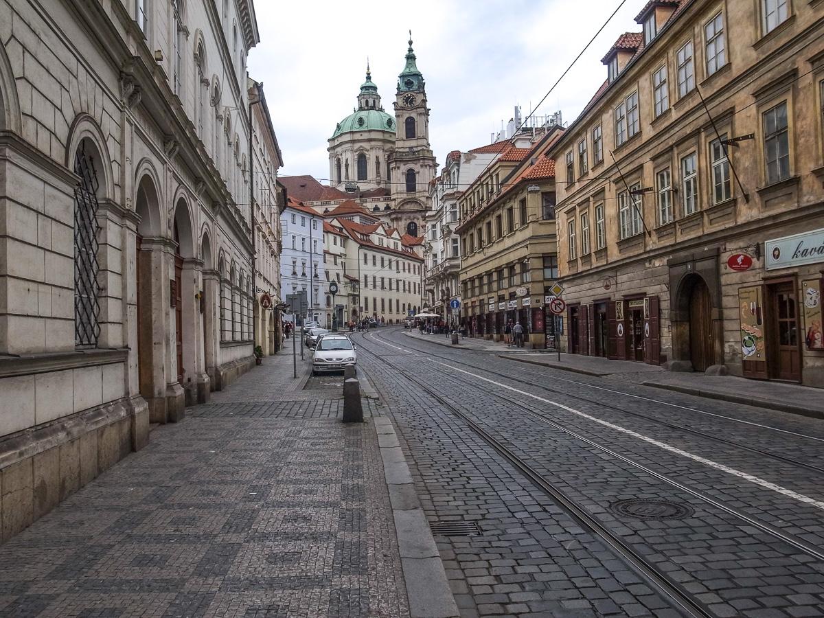 Blick auf die St. Nikolaus Kirche