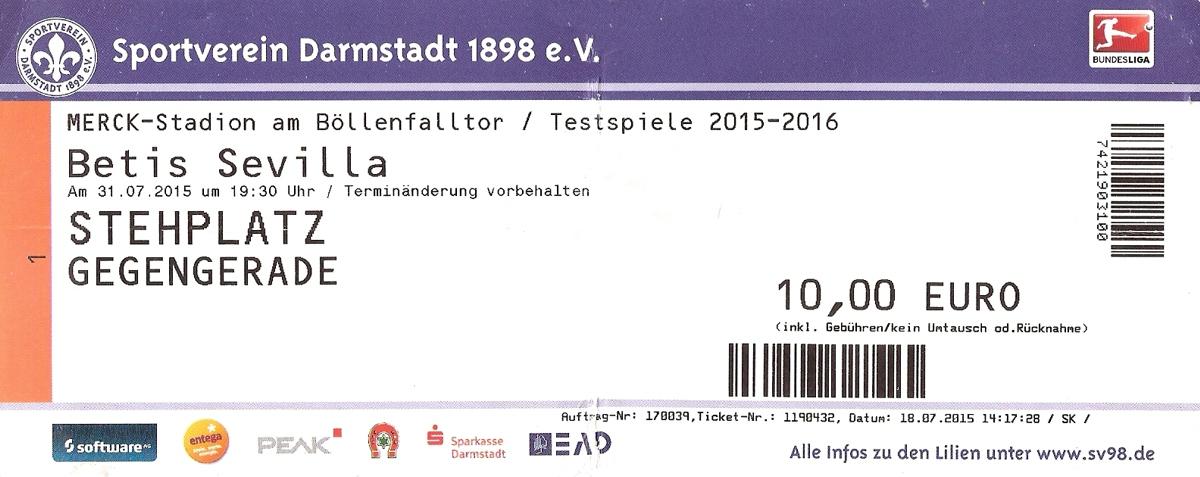 Ticket Merck-Stadion am Böllenfalltor