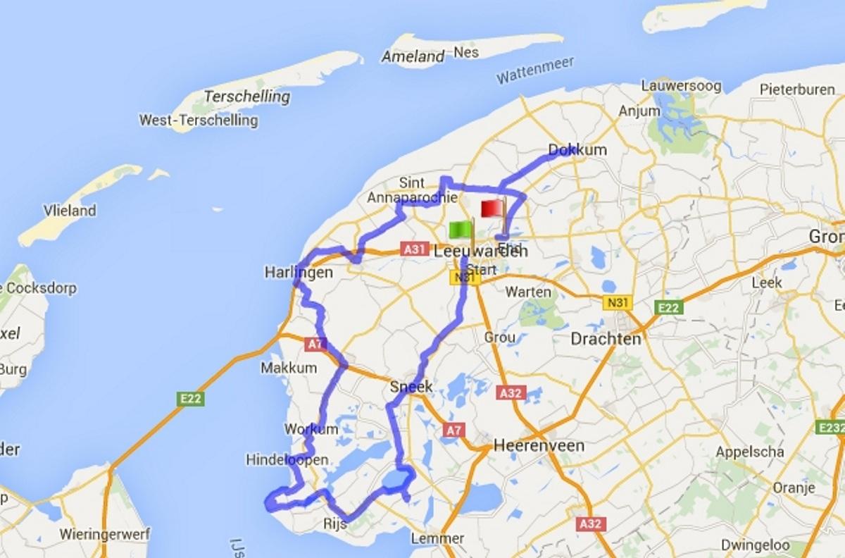 Karte (Quelle: gpsies.com und Google maps)