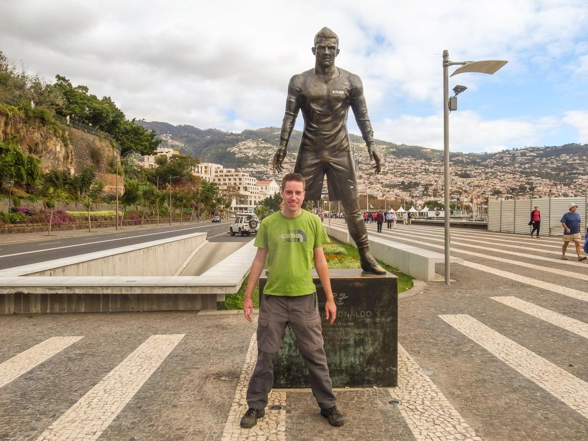 Statue von Cristiano Ronaldo