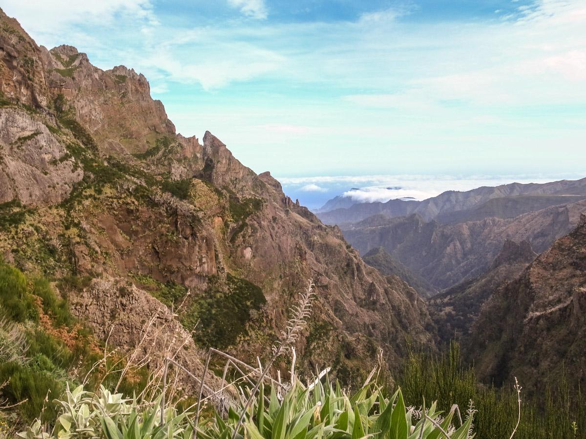 Steile Bergflanke