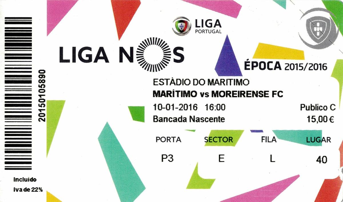 Ticket Estadio dos Barreiros