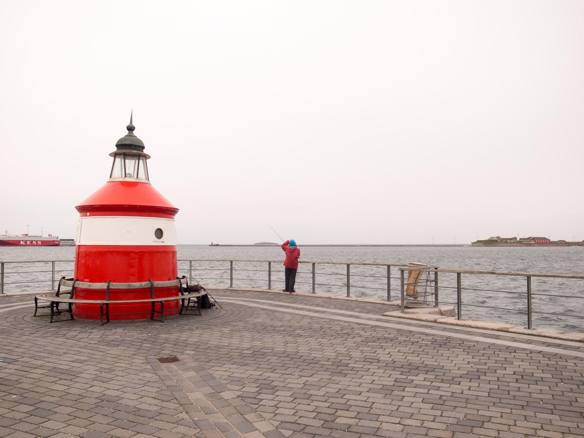 Fischer am Leuchtturm