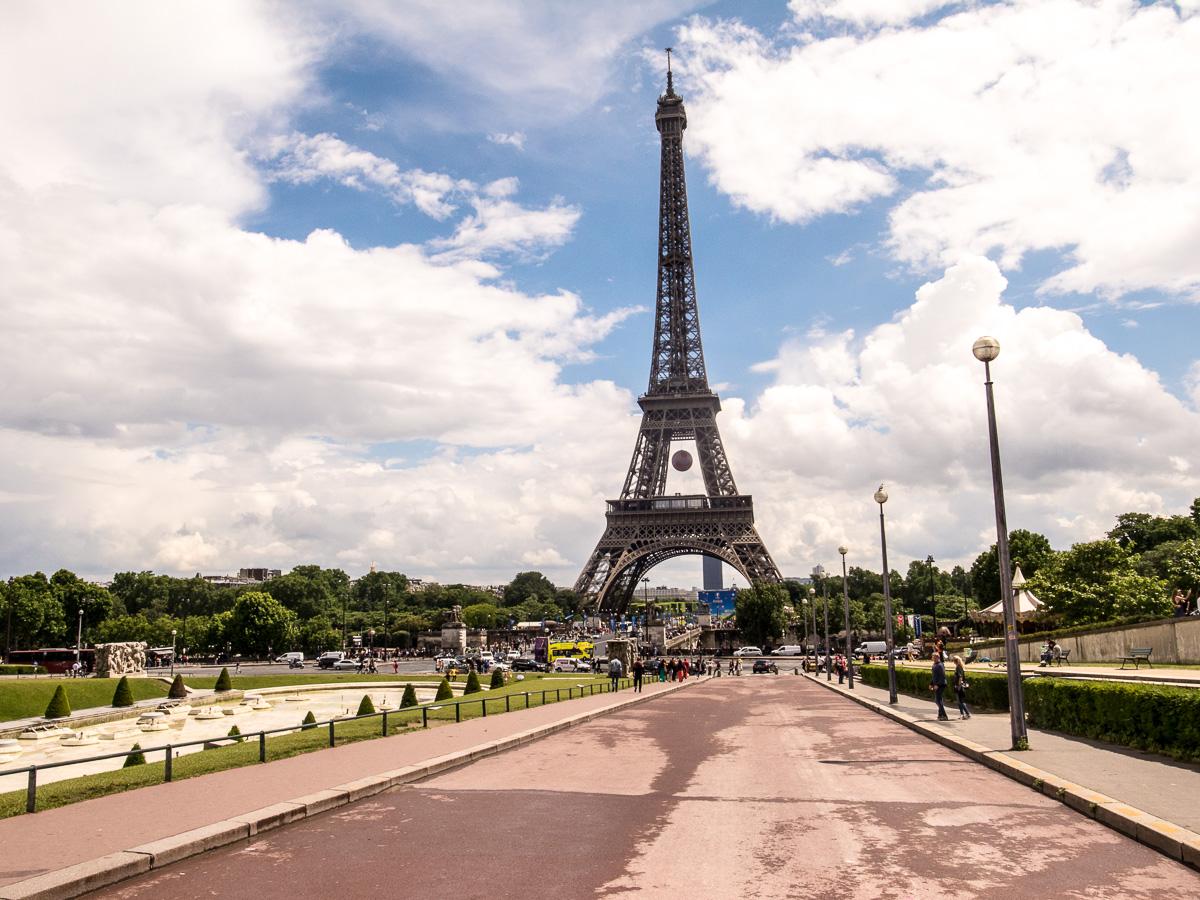 Eifelturm (Blick vom Garten von Trocadero)