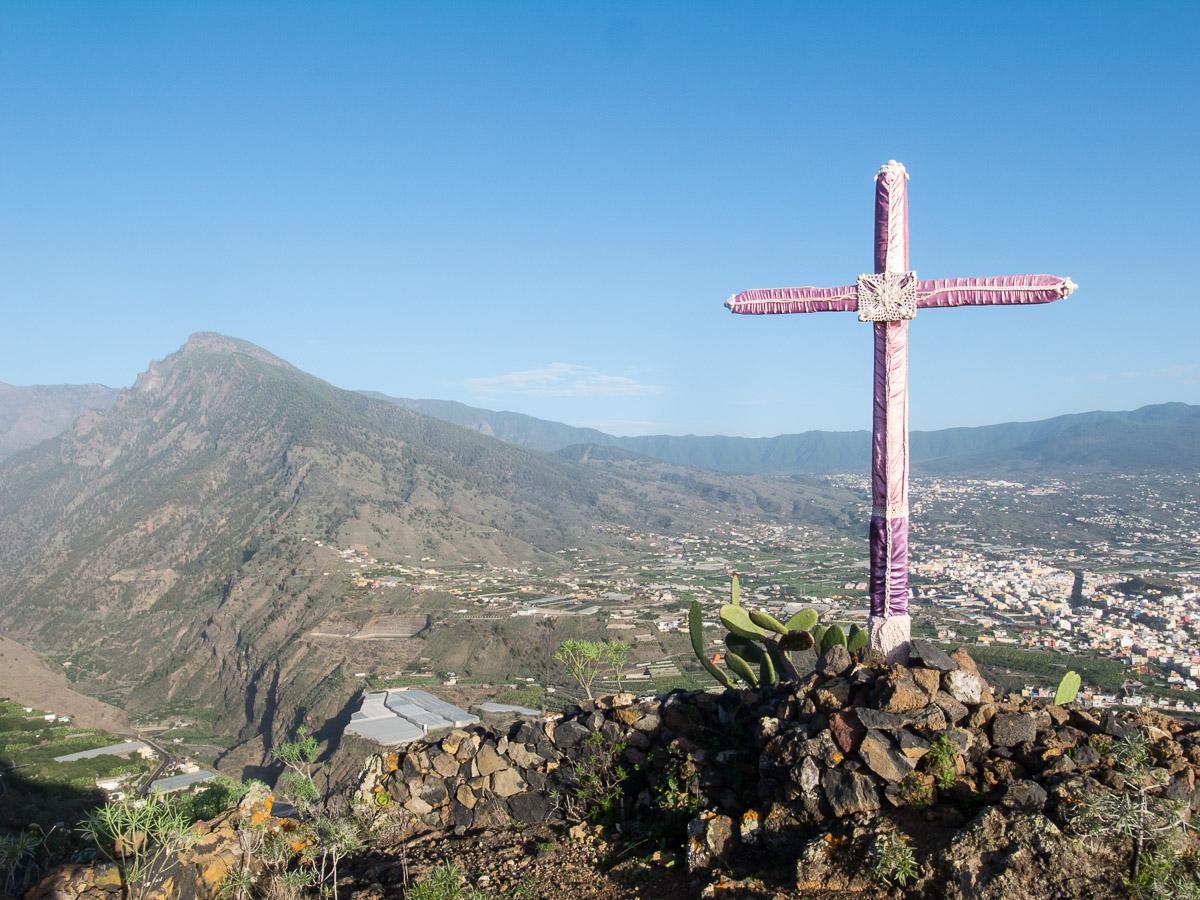 Blick auf den Pico Bejenado und Los Llanos