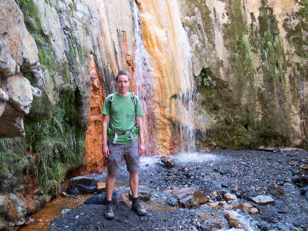 Cascada de los Colores im Barranco de las Angustias