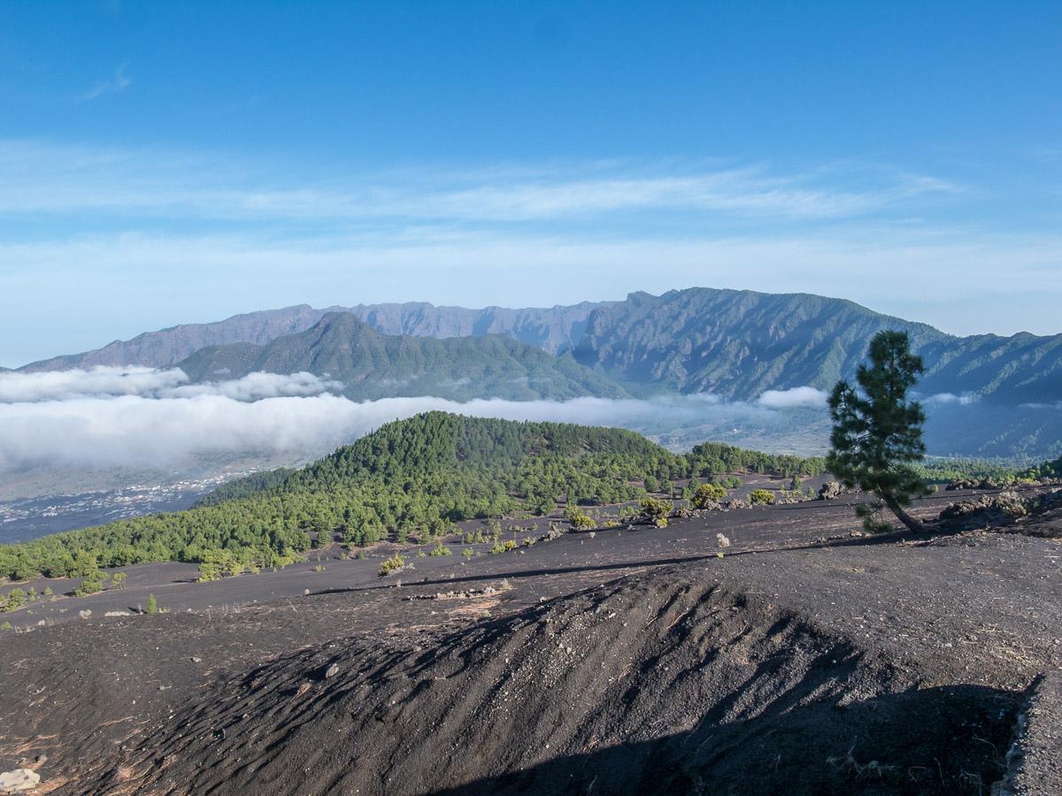 Blick zurück auf der Vulkanroute kurz hinter El Pilar