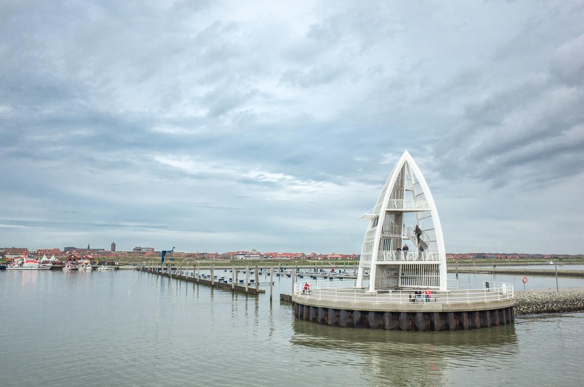 Ankunft am Hafen von Juist