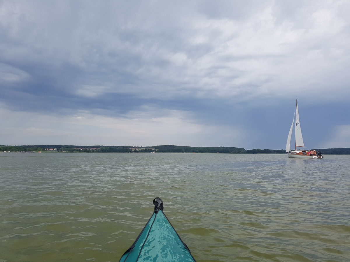 Segelboot auf dem Woblitzsee
